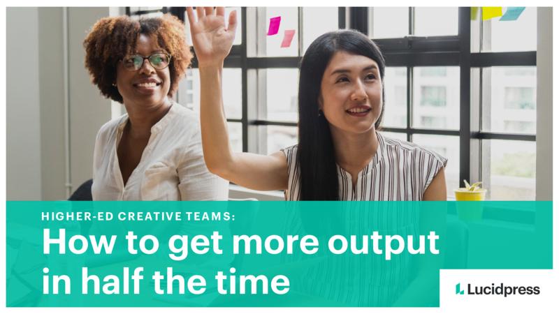 Higher-ed creative teams cover
