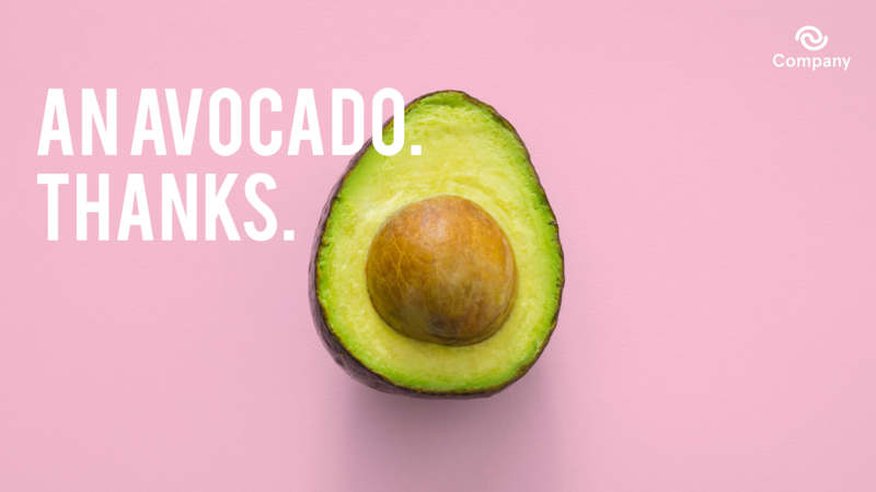 Avocado Zoom background