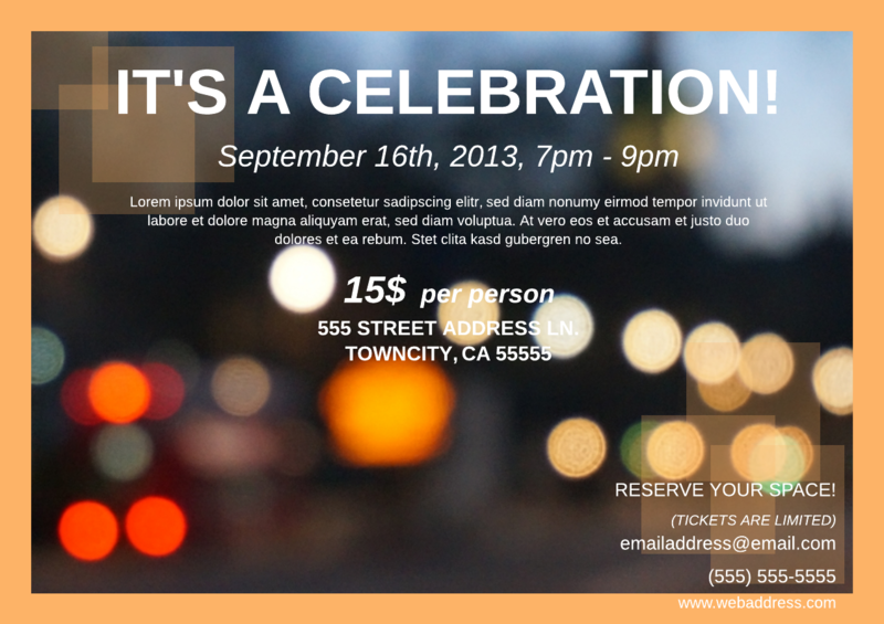 Digital block party flyer template