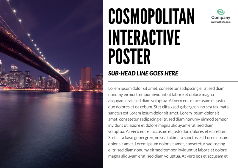 Interactive cosmopolitan flyer template