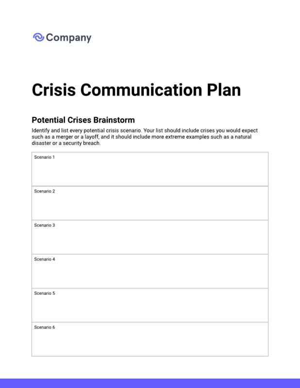 Crisis communication checklist