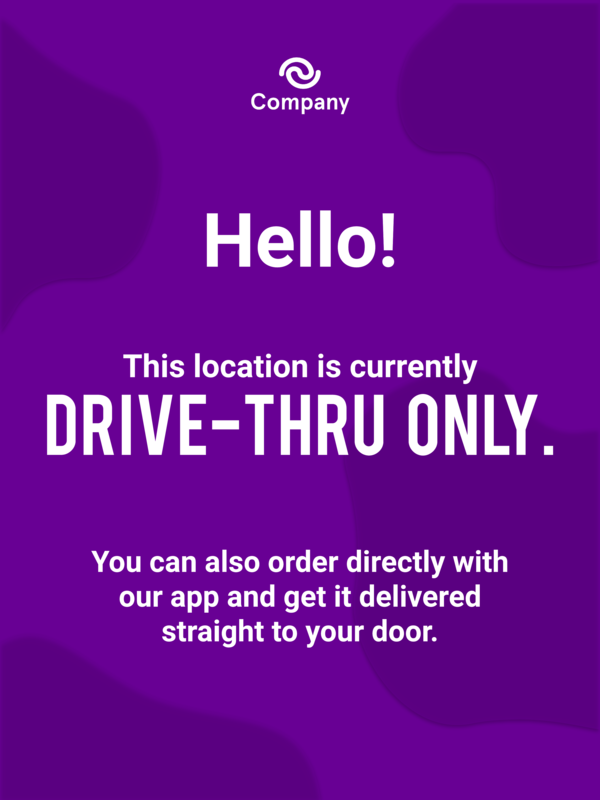 Delivery and curbside pickup poster template
