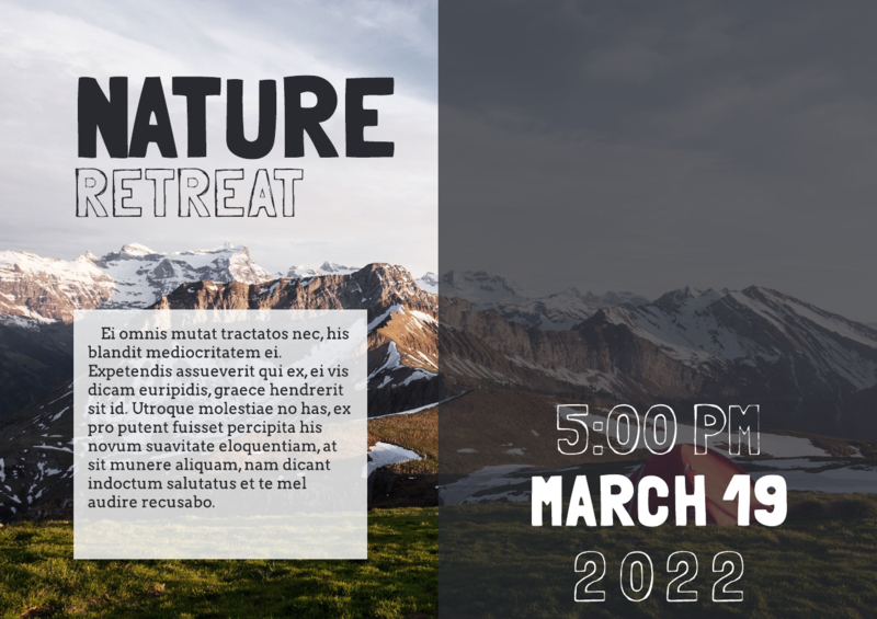 nature retreat event flyer template
