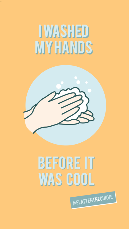 Hand washing protocol Instagram story template