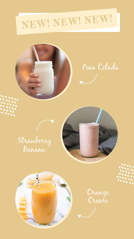New smoothie recipe Instagram story template