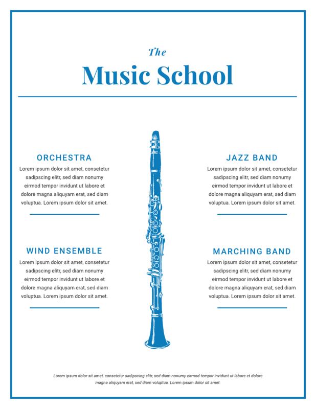 Music flyer template