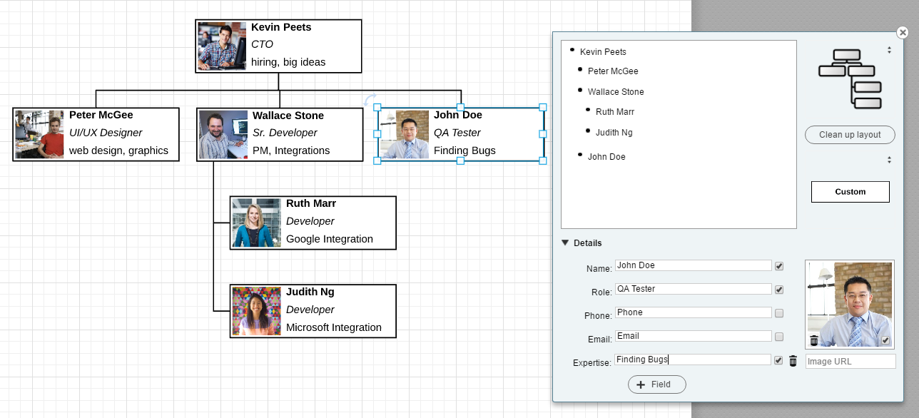 org chart for onboarding software engineers