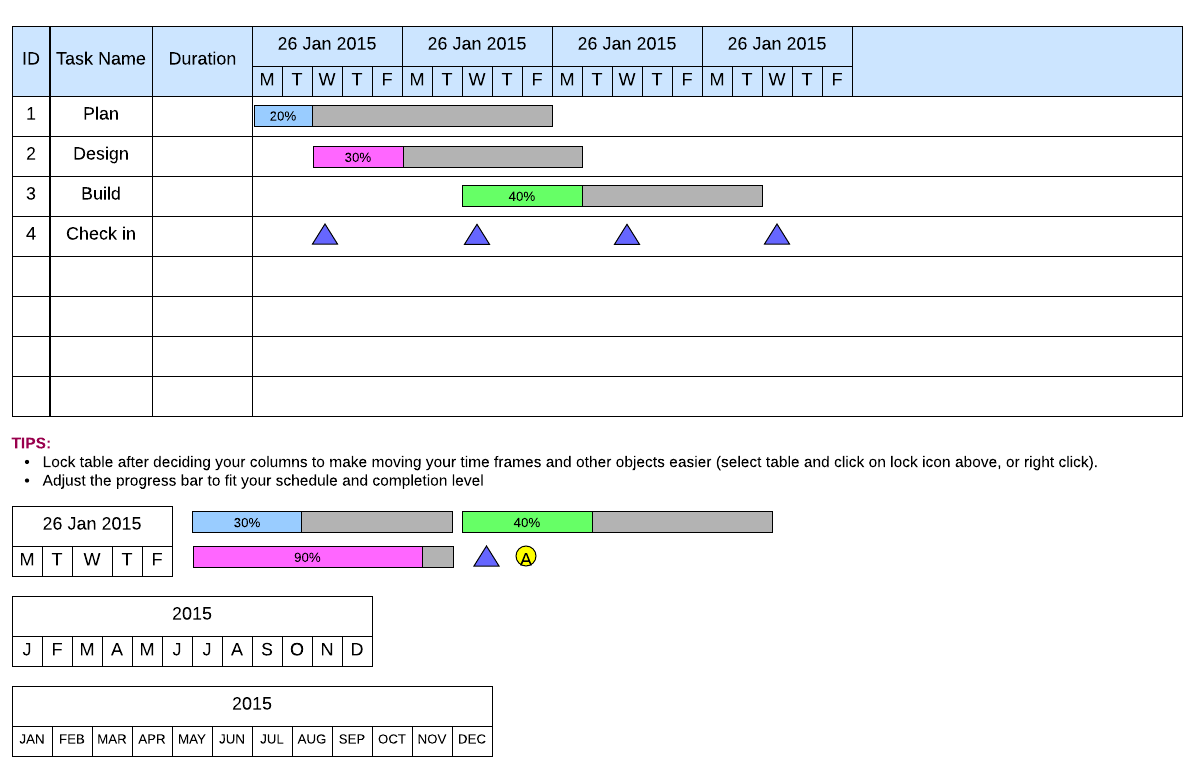 How to make a gantt chart in excel as simply as possiblelucidchart traditional gantt chart template ccuart Images