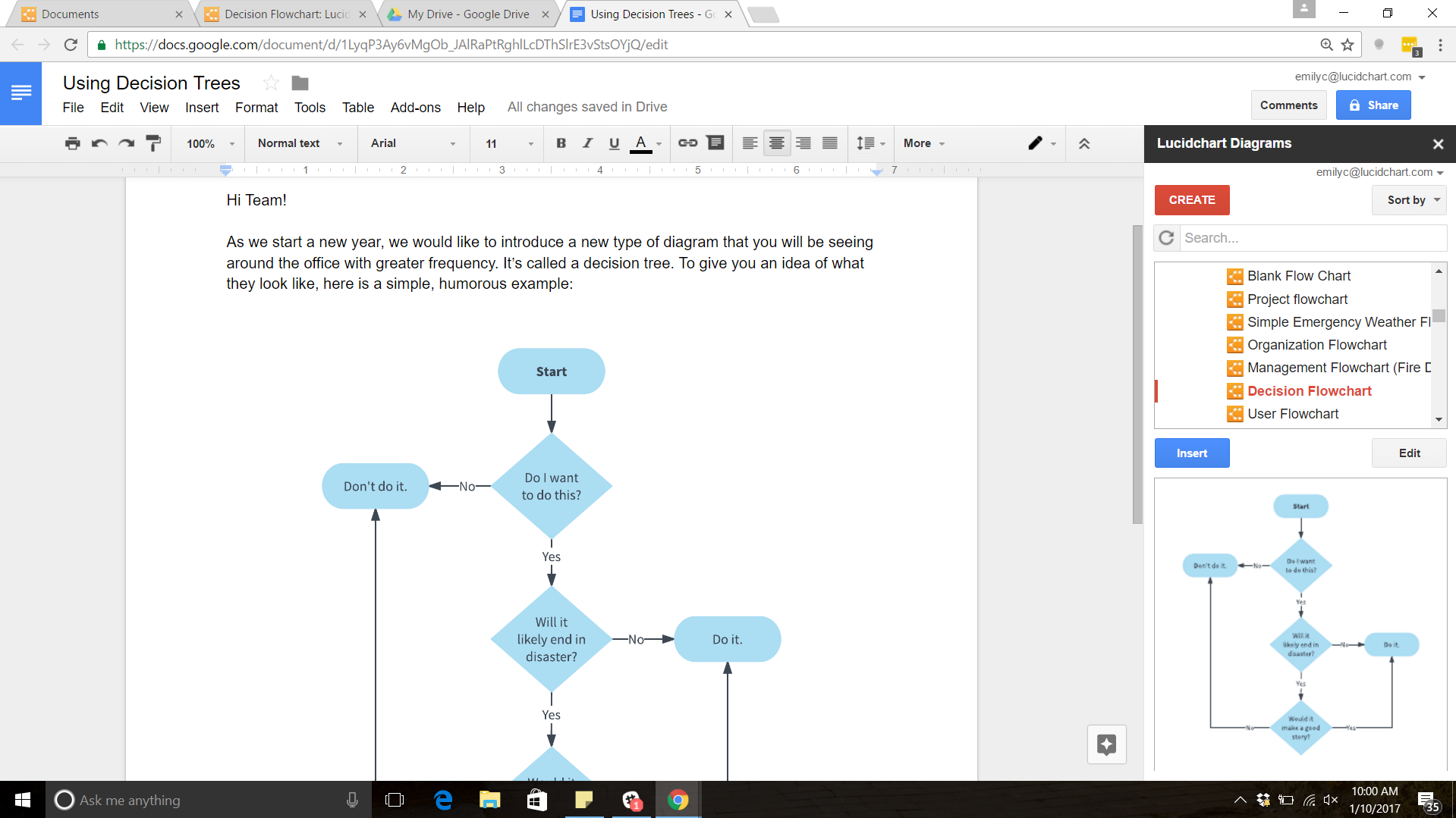 How to make a tree diagram in google docs lucidchart blog decision tree google docs ccuart Choice Image