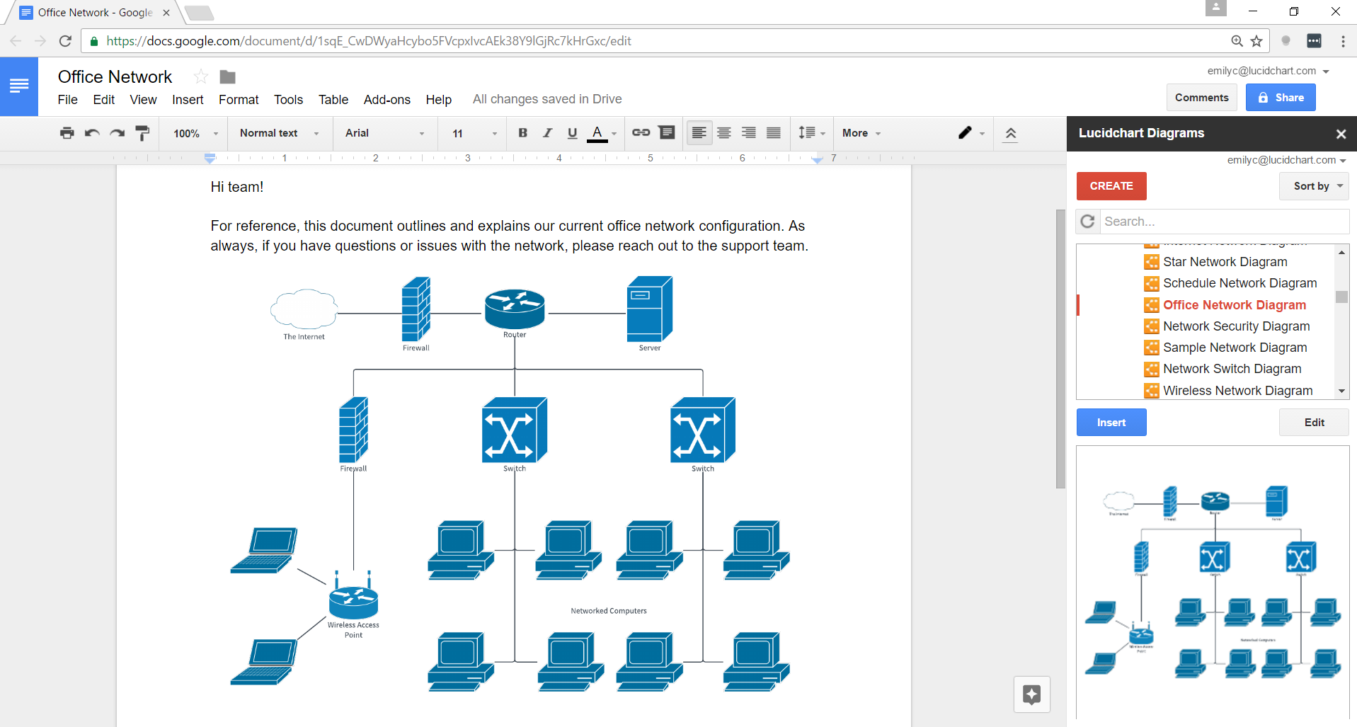 how to create a flowchart in Google Docs with Lucidchart