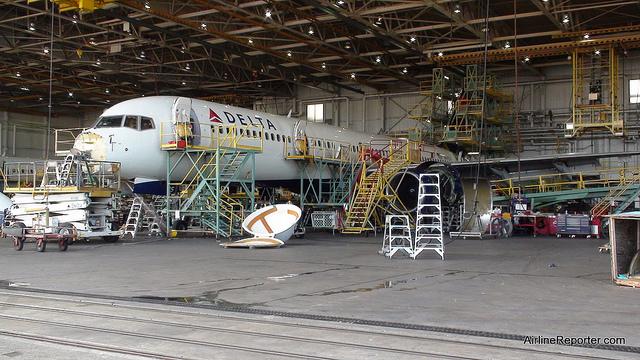 Delta Airlines hangar