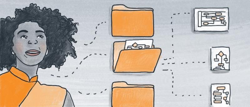 Stay organized with folders