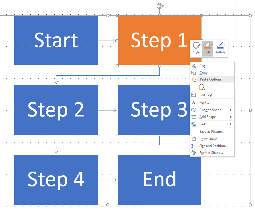 how to make a flowchart in powerpoint