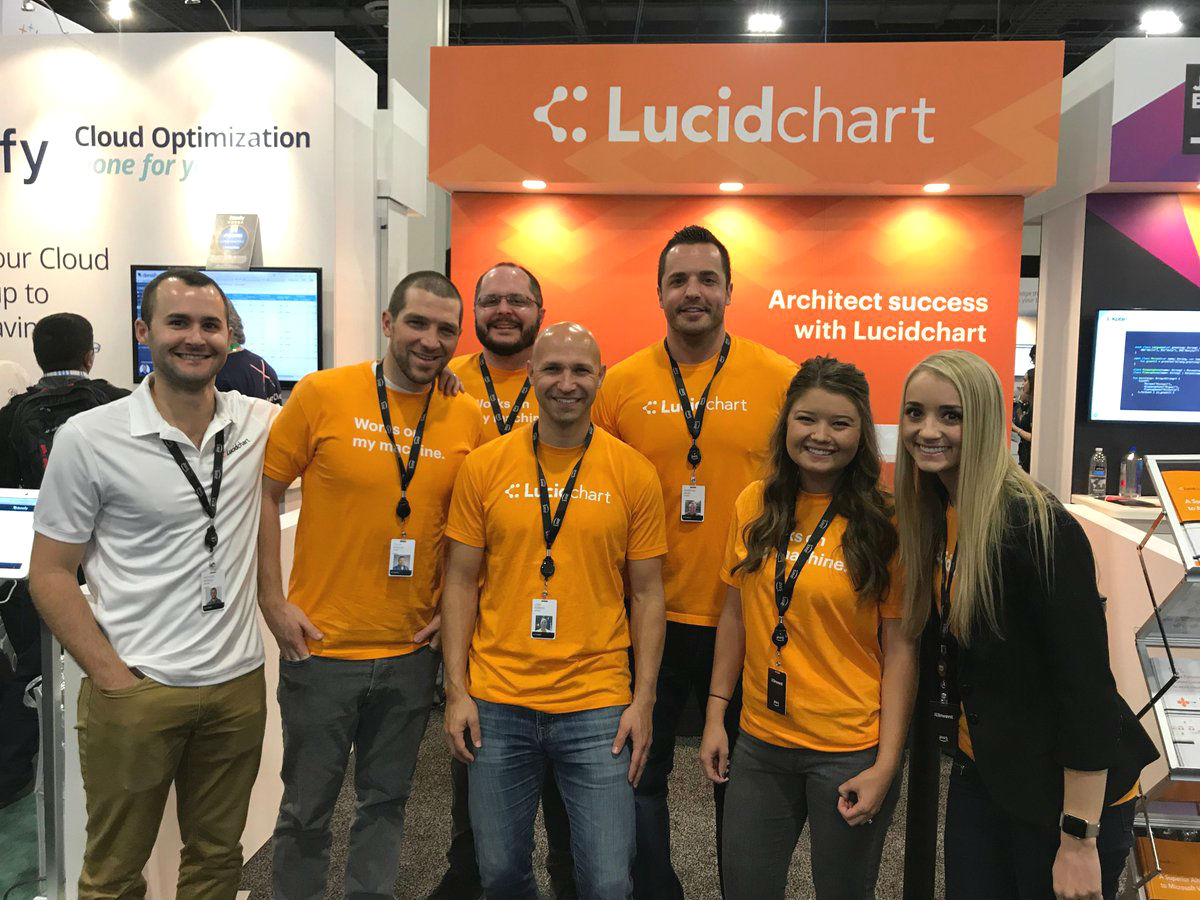 Lucidchart team at AWS re:Invent 2017