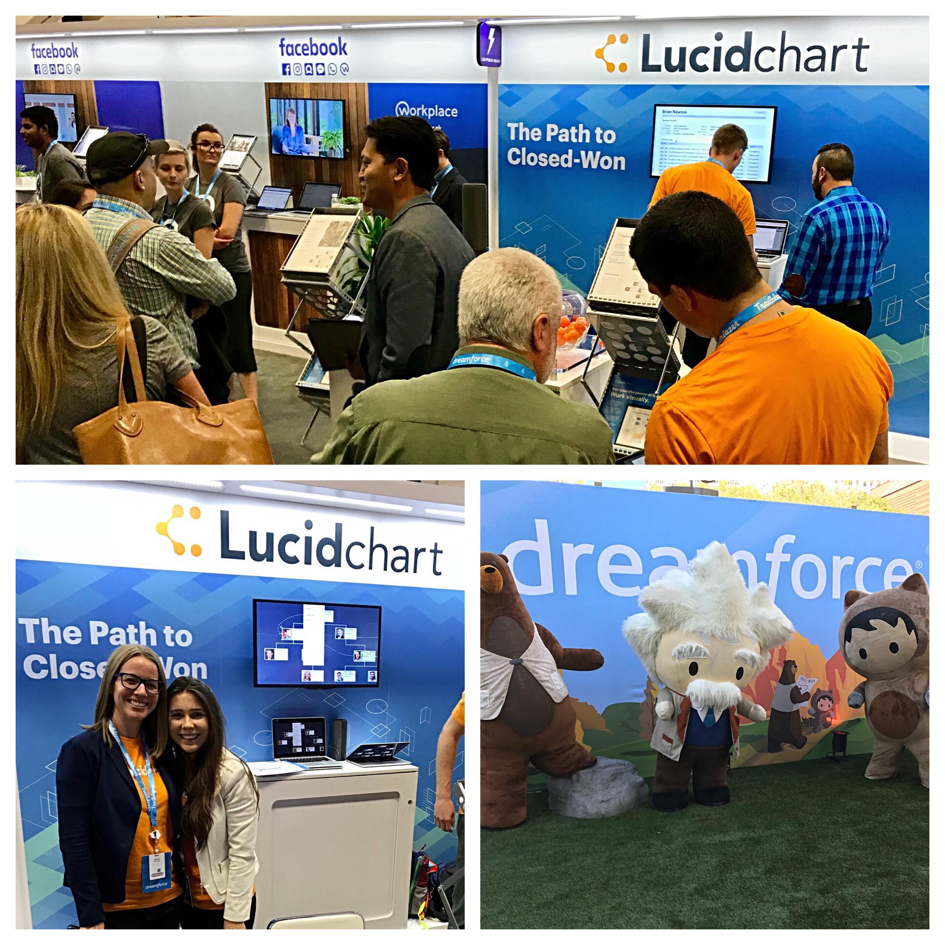 Lucidchart booth at Dreamforce