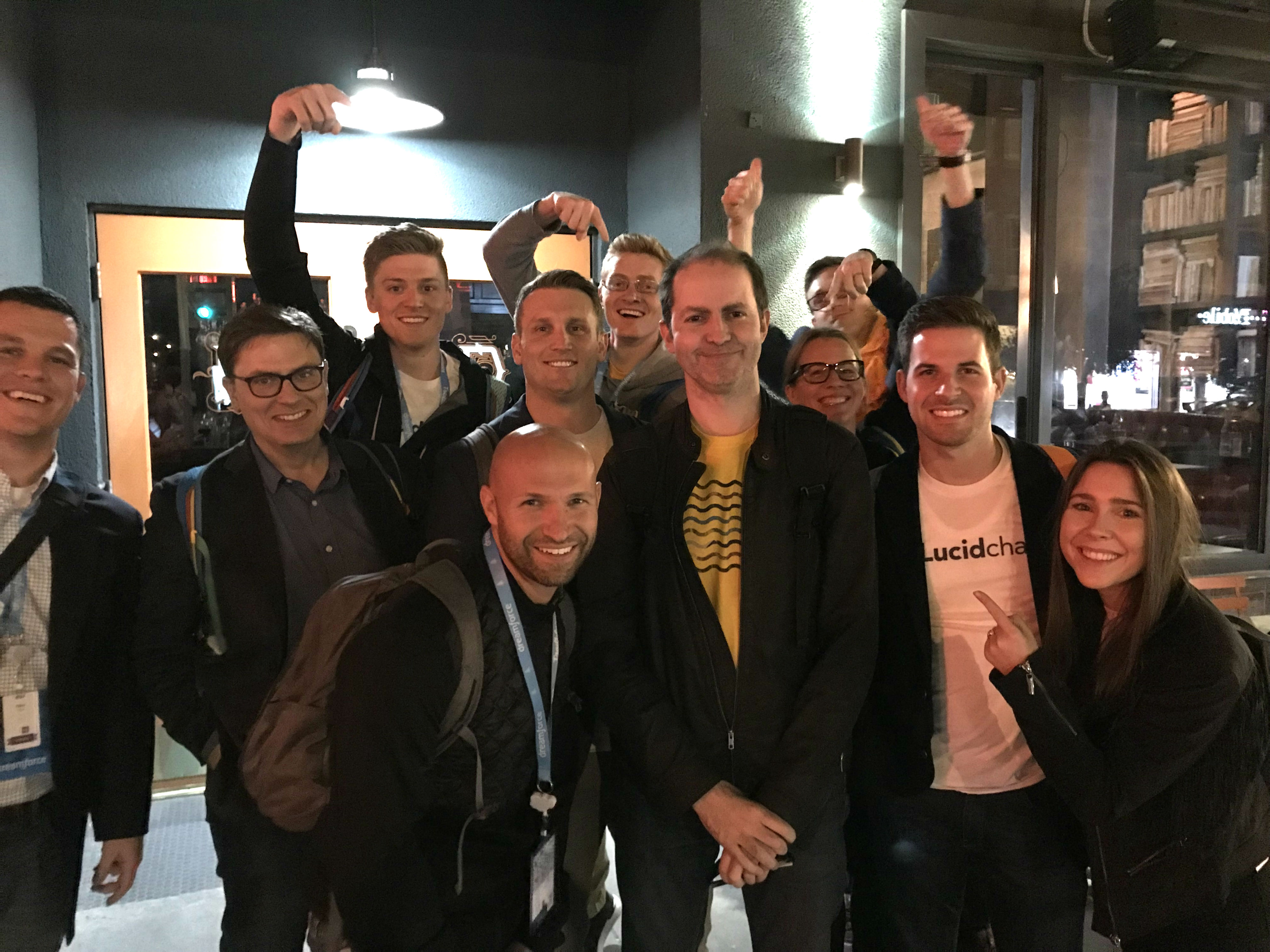 Lucidchart team at Dreamforce