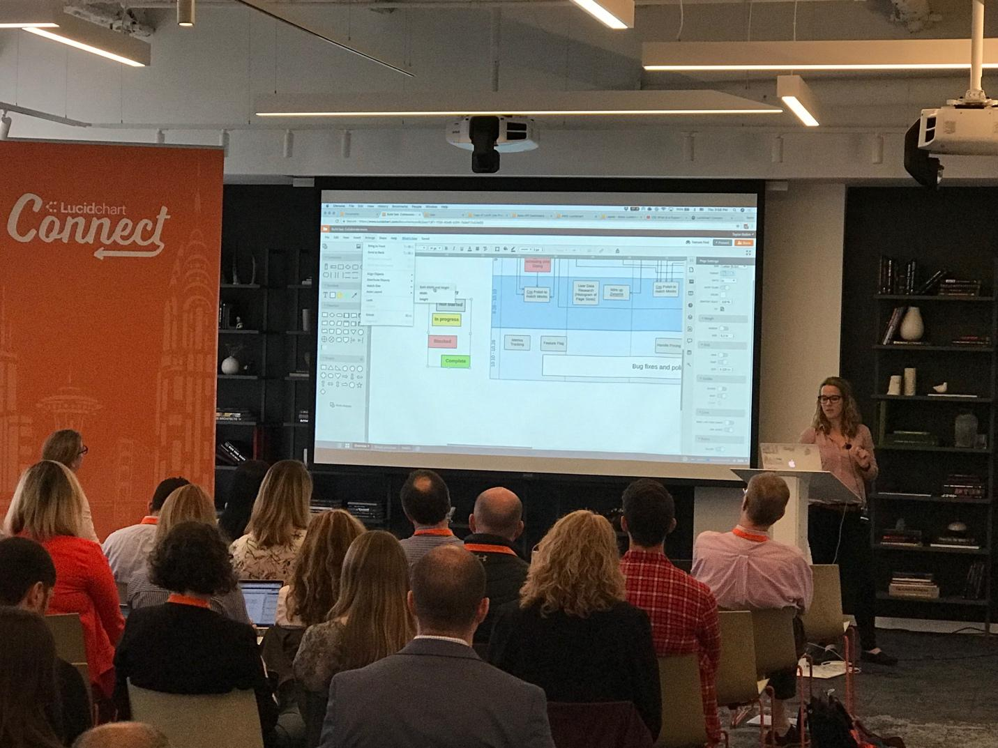Angie Mecham at Lucidchart Connect NYC