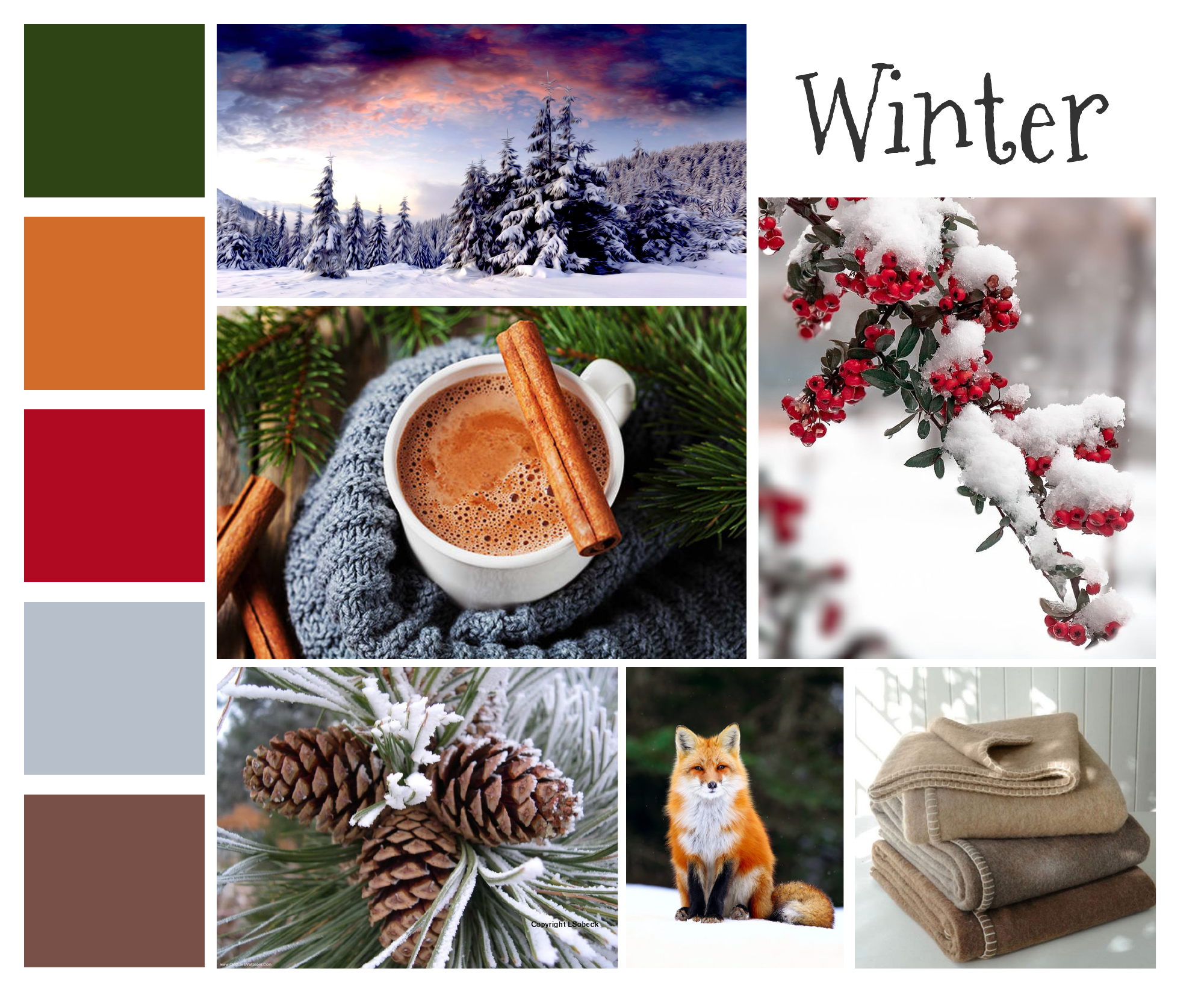 mood board example for winter