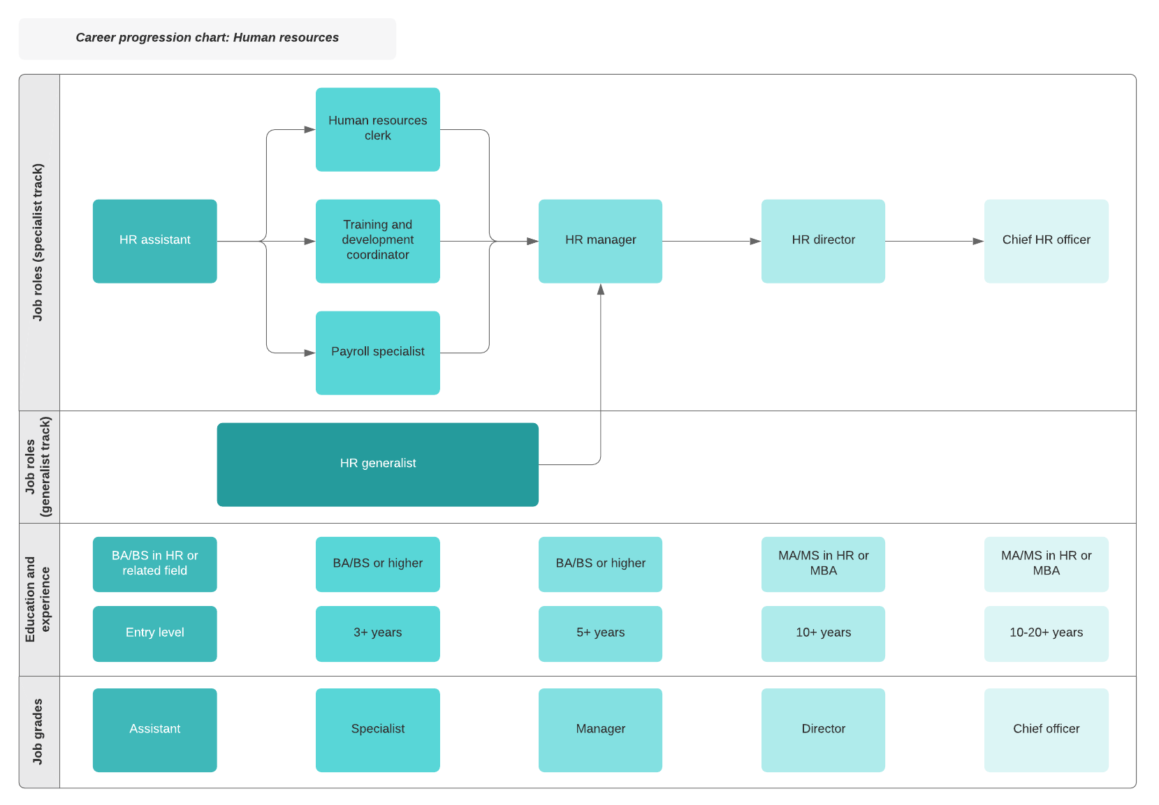 career progression chart example HR
