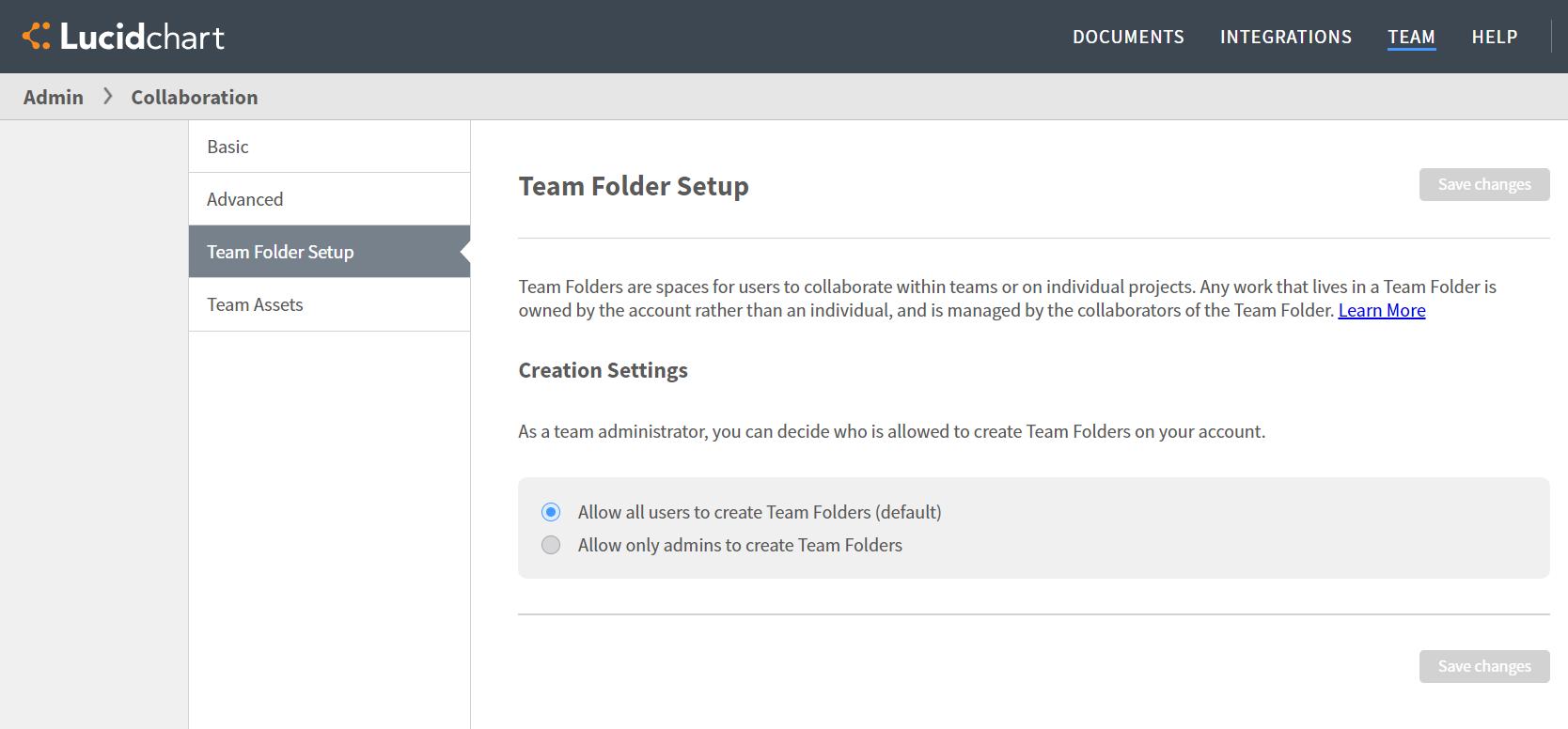 Admin team folder setup
