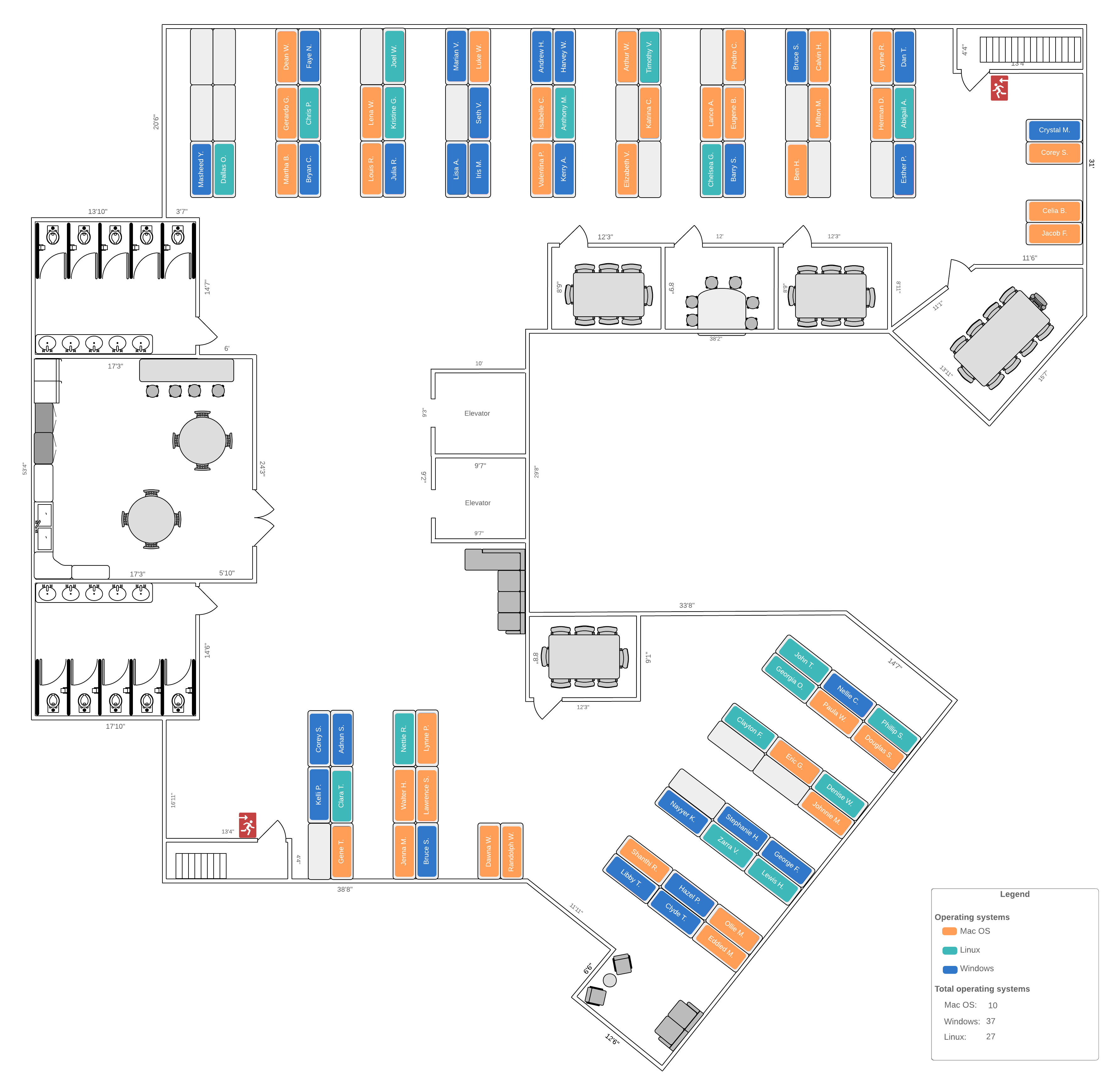 detailed office layout example