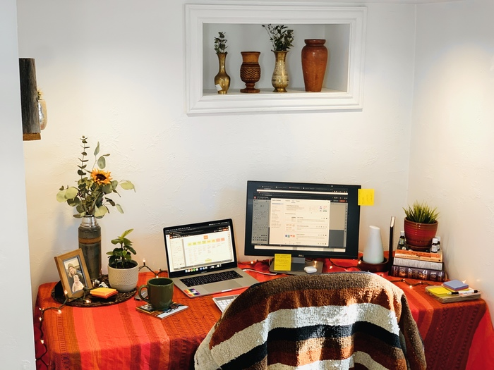 work from home workspace example
