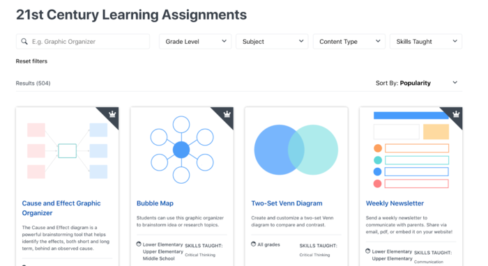 Lucid for Education 21st century learning assignments