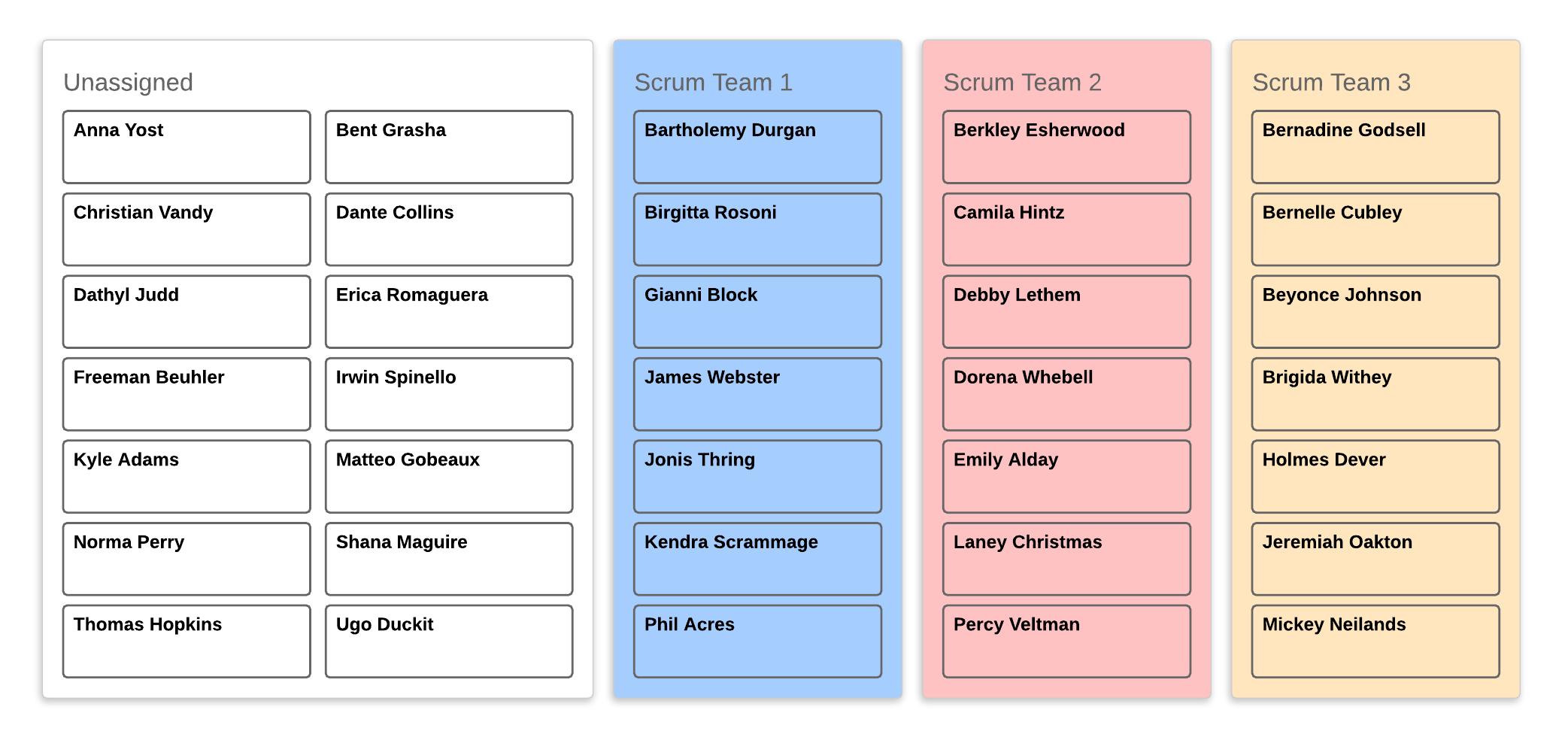 التنظيم الإداري القائم على الفريق
