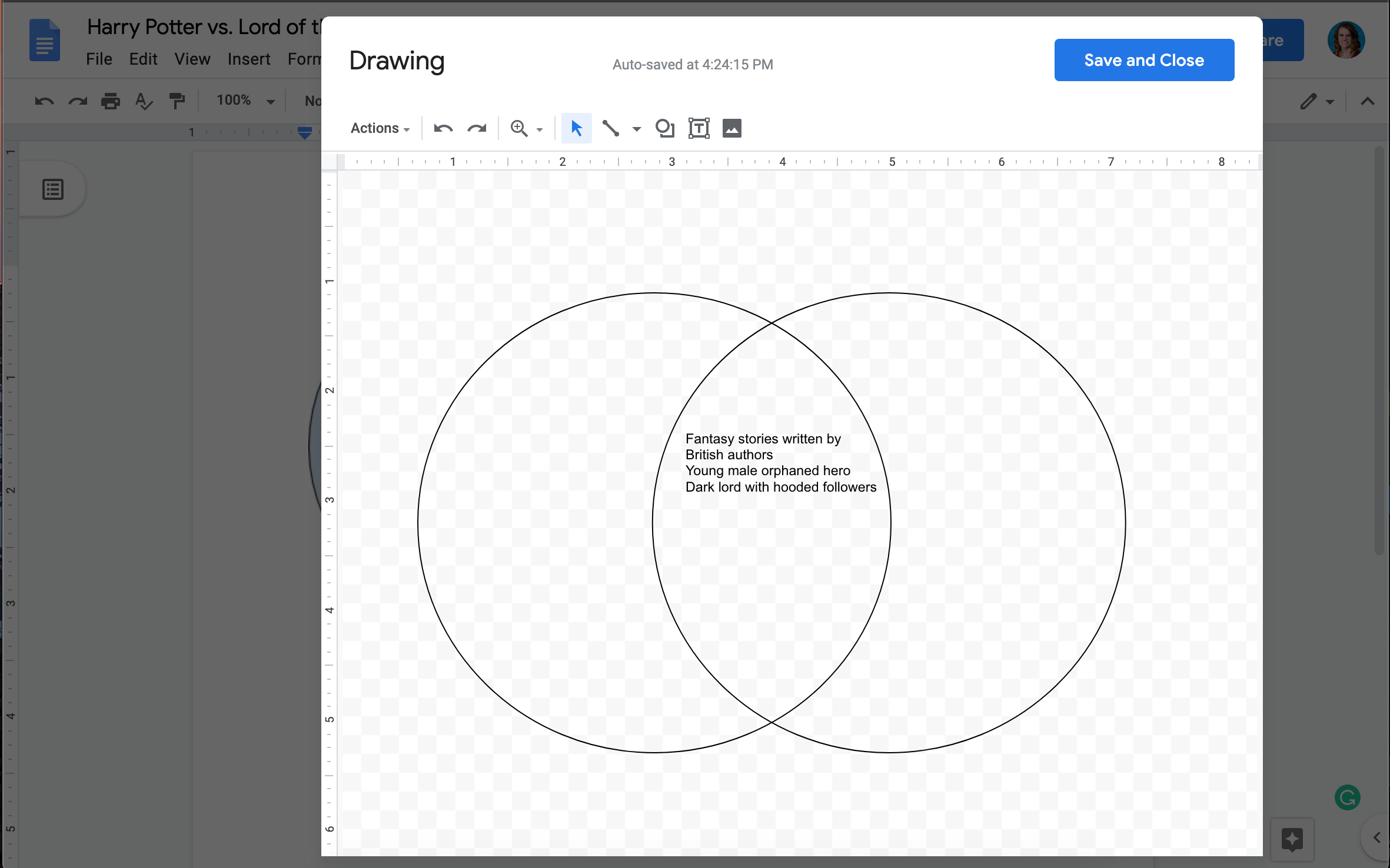 How To Make A Venn Diagram In Google Docs