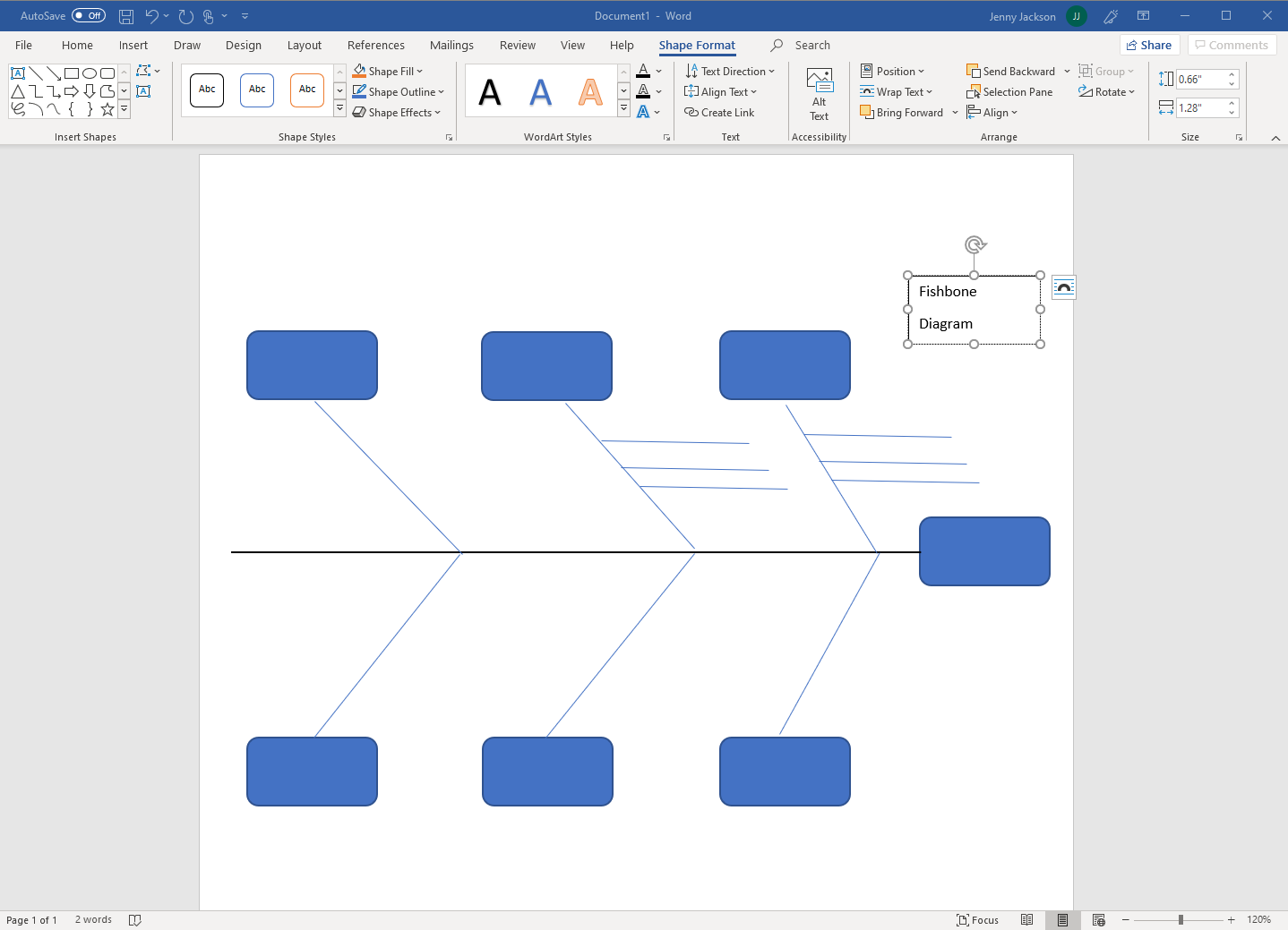 fishbone diagram created in Word
