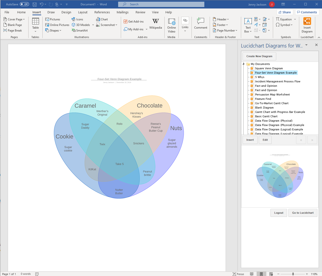 How To Make A Venn Diagram In Word Lucidchart