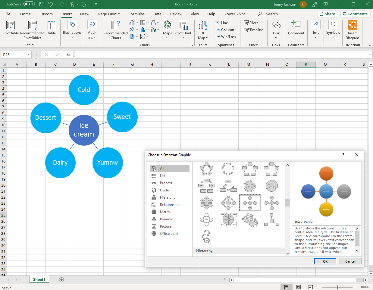 How to Make a Mind Map in Excel | Lucidchart Blog Create A Map From Excel on map from columbia, map from douglas, map from champion,