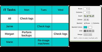 lucidchart data table feature