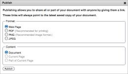 Publish your document