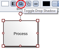 Lucidchart drop shadows feature