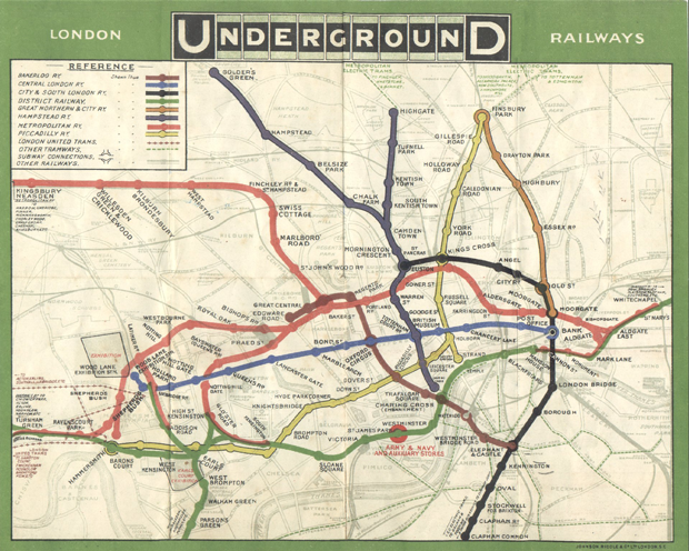London Underground Railways Infographic 1908
