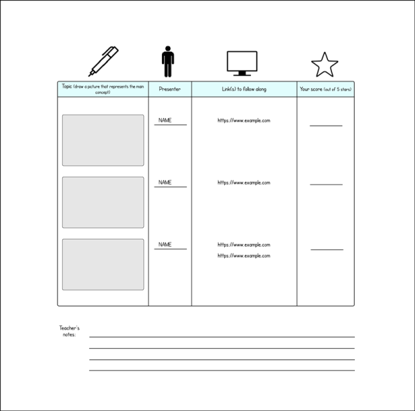 lesson plan diagram