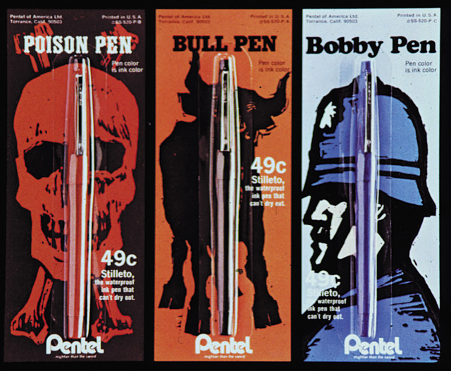 Pentel packaging designs by Archie Boston