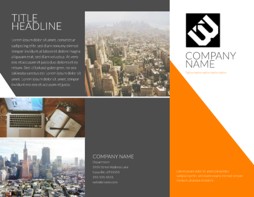 Direct mail brochure template