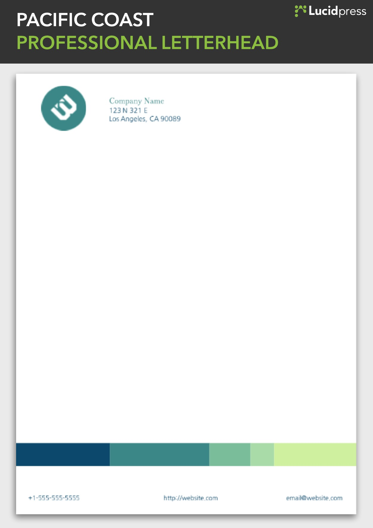 Letterhead templates, stationery examples