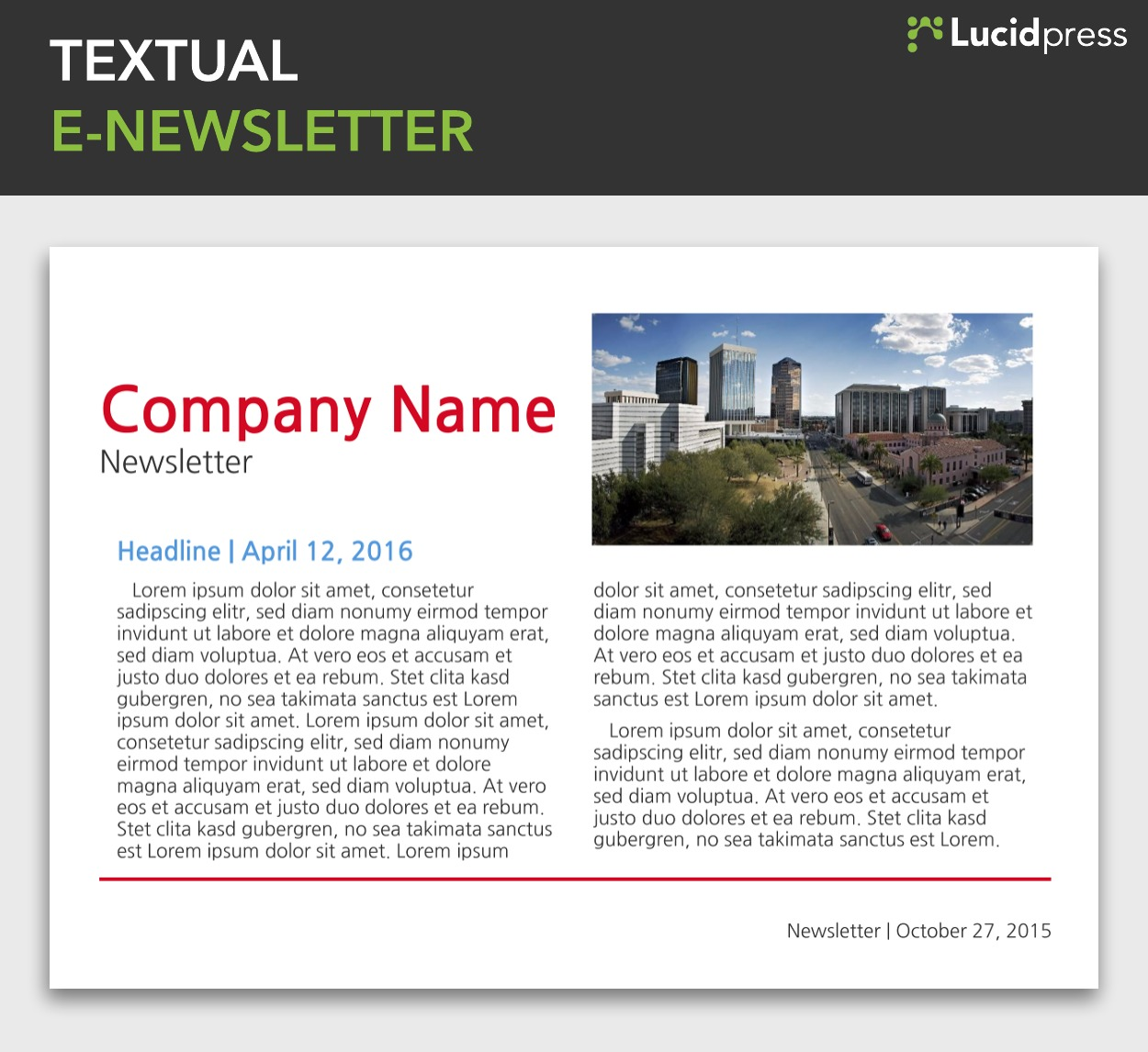 Free newsletter templates online