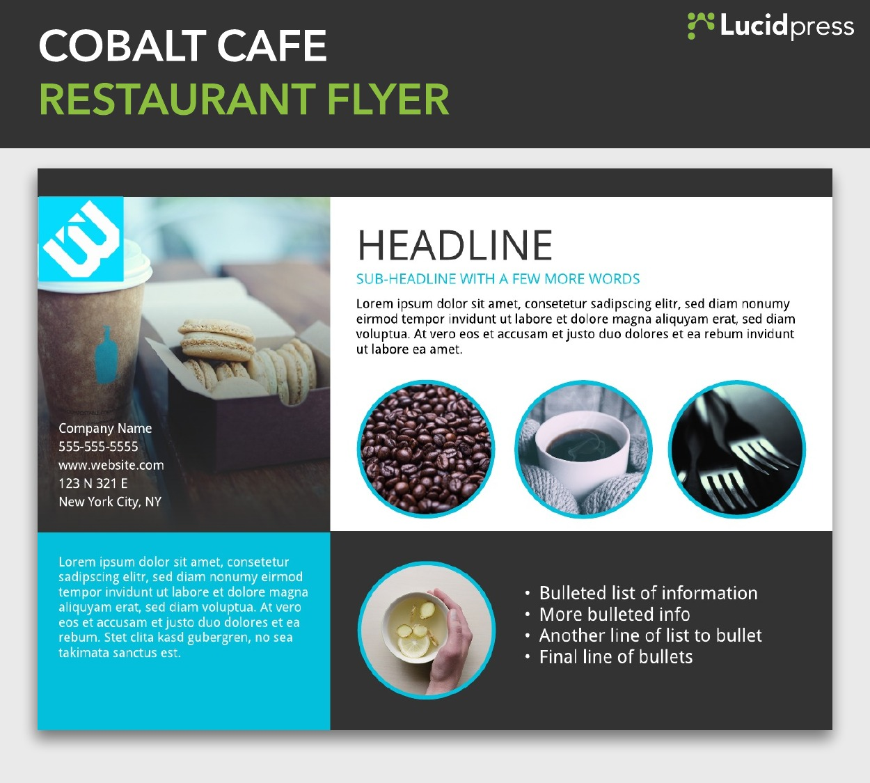 17 flyer layout design ideas for your inspiration4 cobalt cafe restaurant flyer