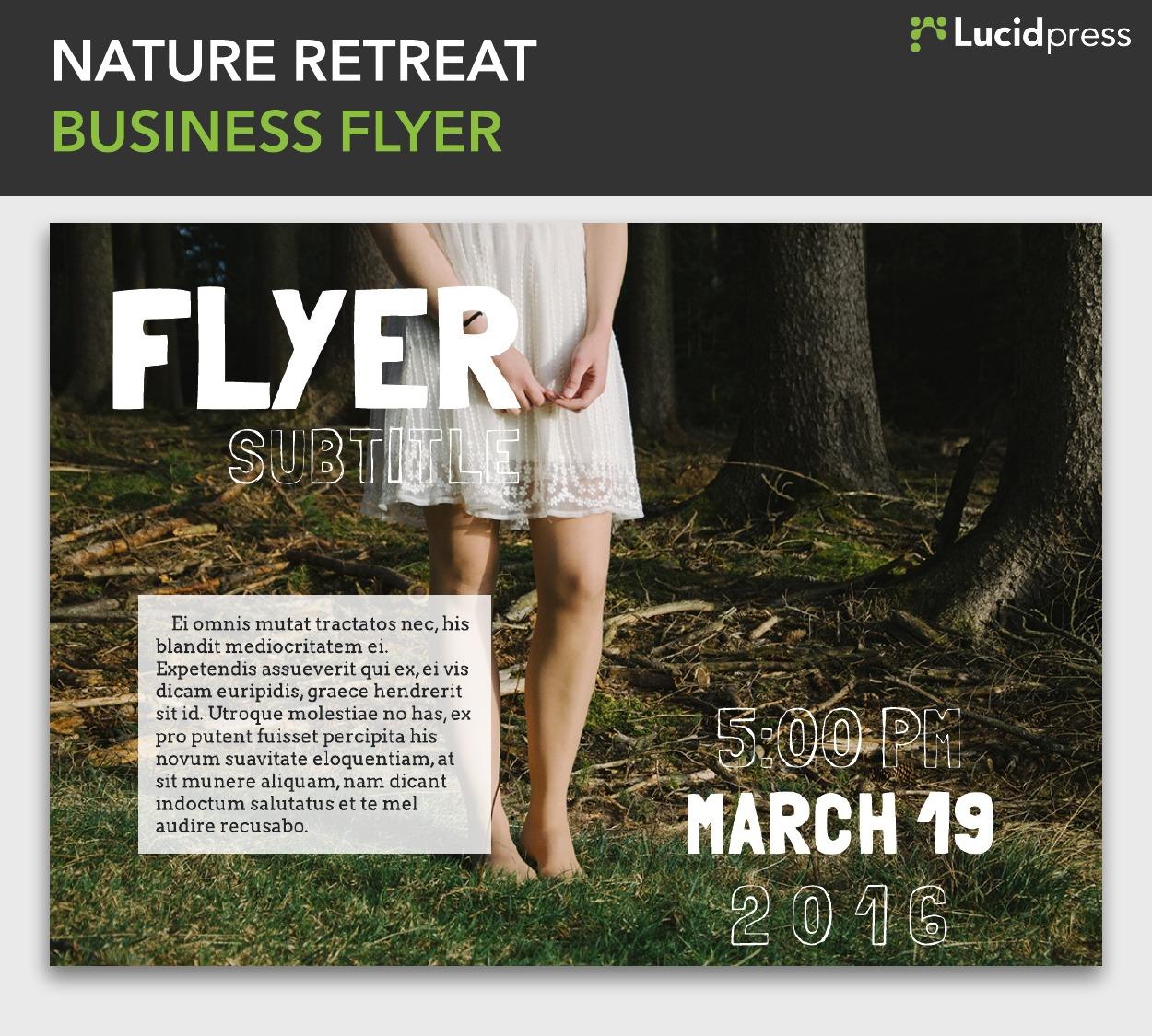 Nature Retreat Business Flyer