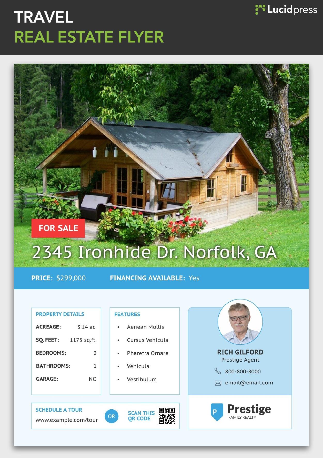 Travel Real Estate Flyer