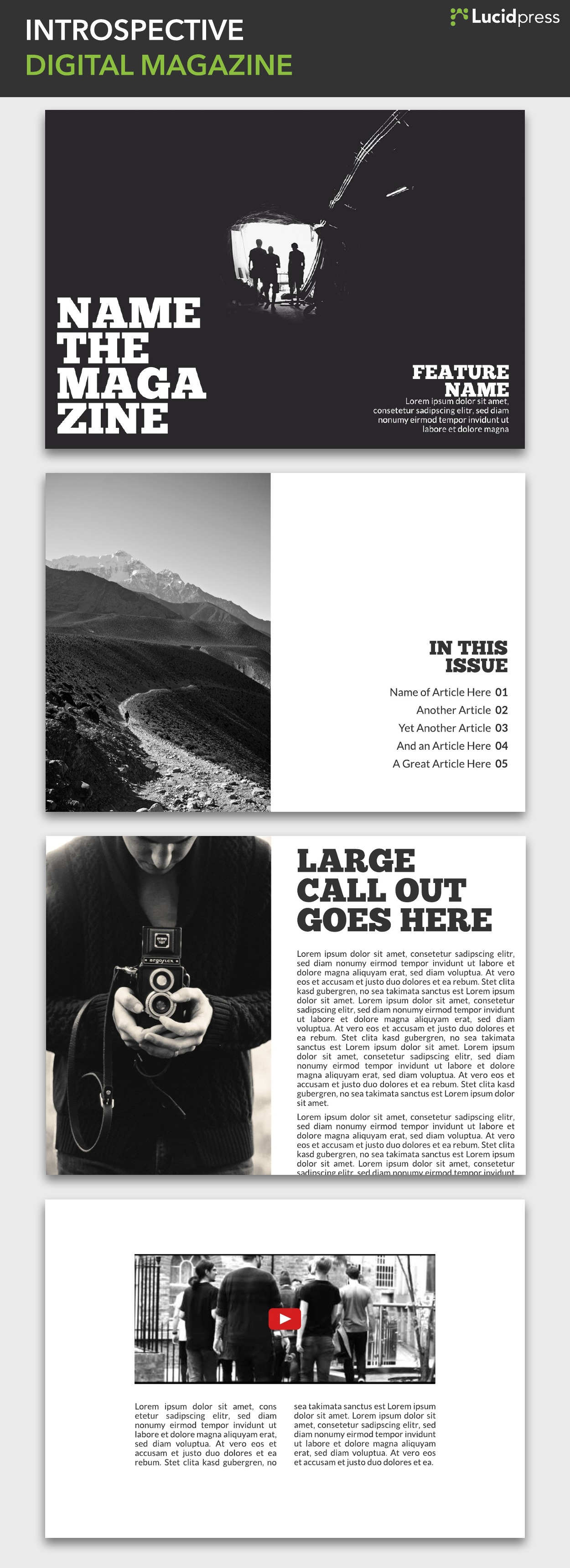Introspective Digital Magazine Inspiration
