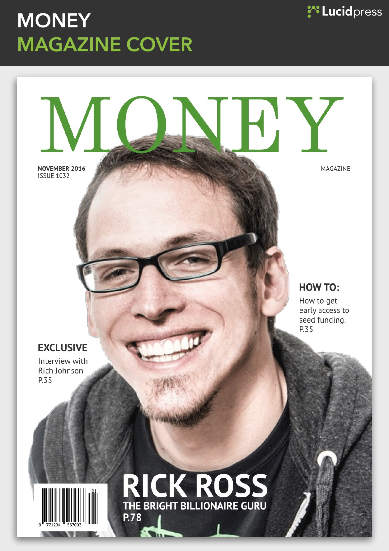 Money Fake Magazine Cover Inspiration