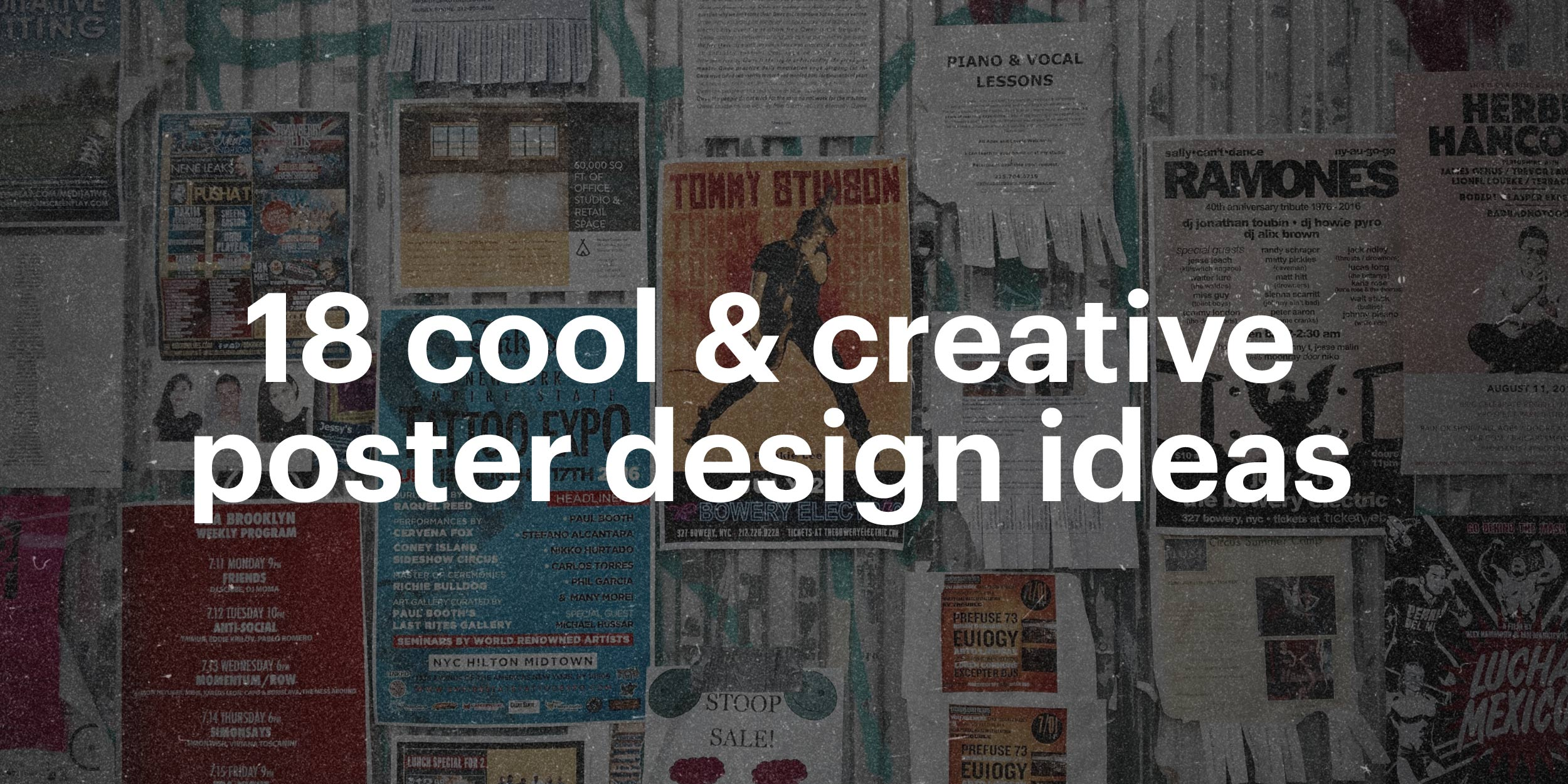 18 Cool & Creative Poster Design Ideas | Lucidpress