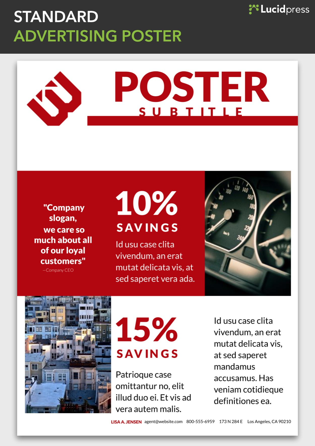 standard advertising poster template