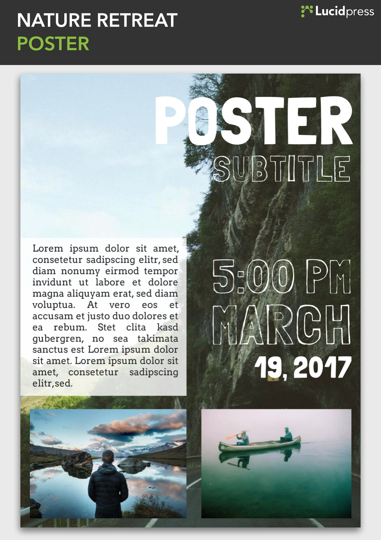 Nature Retreat poster template