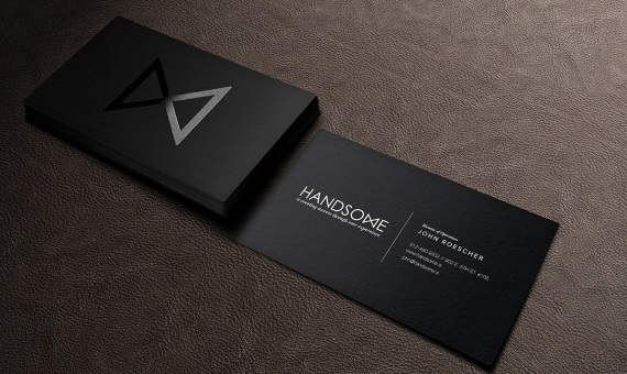 handsome black business card - Unique Business Card Ideas